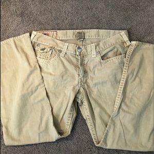 True Religion Super T Khaki Jeans 40x32